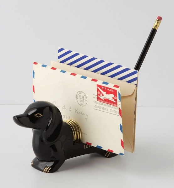 dachshund letter holder