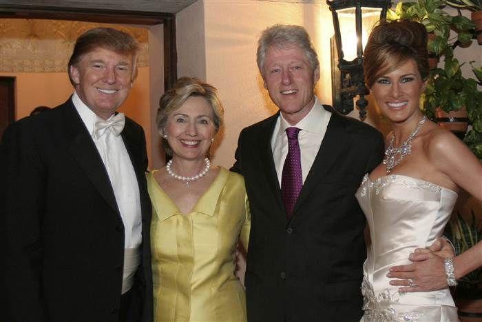 Hillary Clinton attended Donald Trump's wedding? GOP debate ...