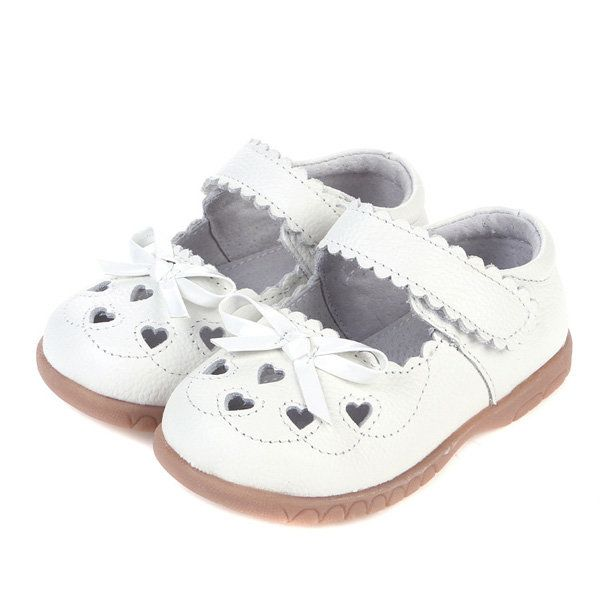 Bowknot Heart Shape Hollow Out Soft Kids Dress Shoes