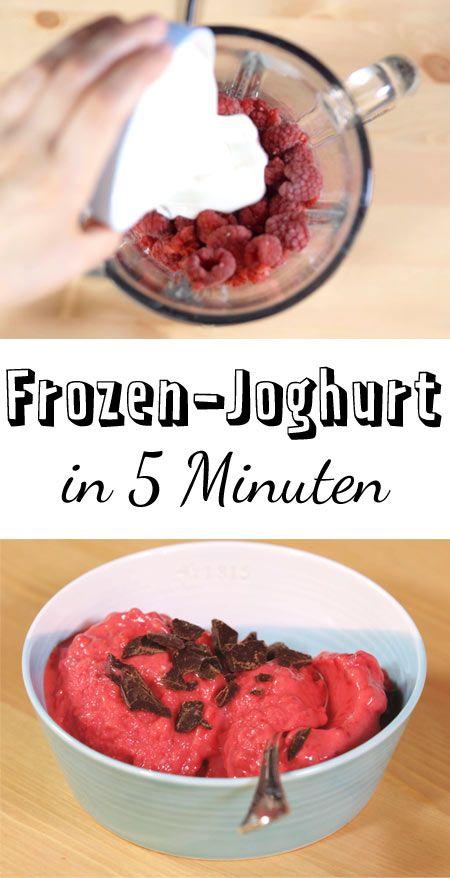 Schnell gemacht und kalorienarm: Dieser Frozen-Joghurt ist einfach die perfekte Erfrischung.