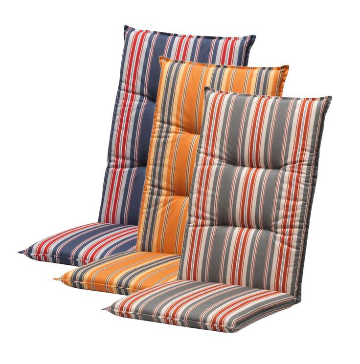 Tuinkussen voor de verstelbare stoel met hoge rug.