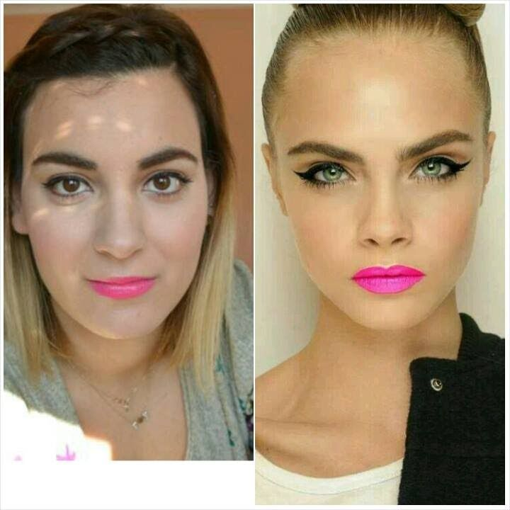 spring makeup tutrial cara delevigne inspired