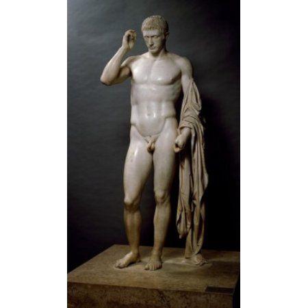 Marcellus as the God Hermes by Cleomenes the Athenian marble 1st century BC France Paris Musee du Louvre Canvas Art - (24 x 36)