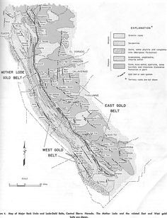 Maps of the Mother Lode area within California:
