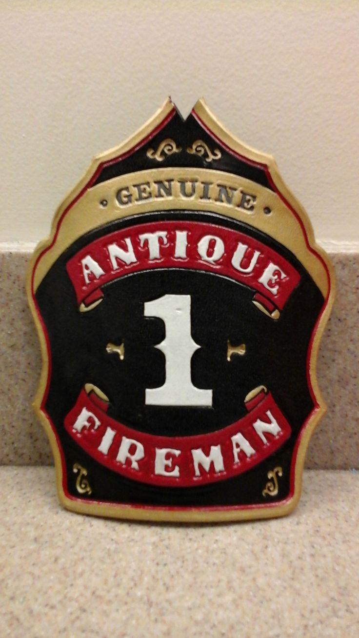 Custom hand made hand painted fire helmet shieldfront