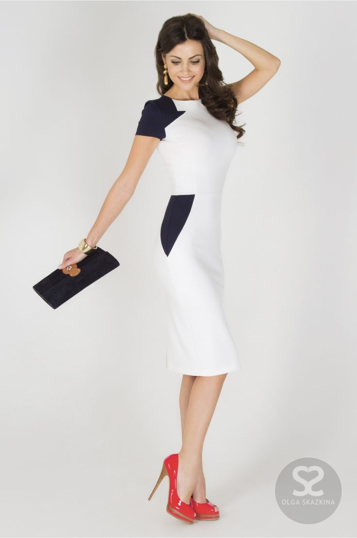 Платье карандаш современного кроя от дизайнера в интернет магазине.   Skazkina