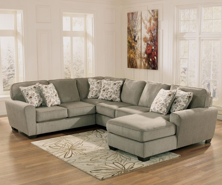 patola park patina 4piece small sectional with right chaise by ashley furniture nebraska furniture