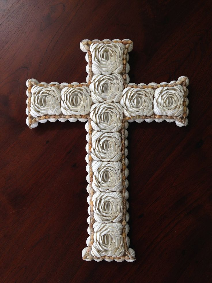 Hand Crafted Shell Cross Wall Hanging Hamptons. by Avoka on Etsy