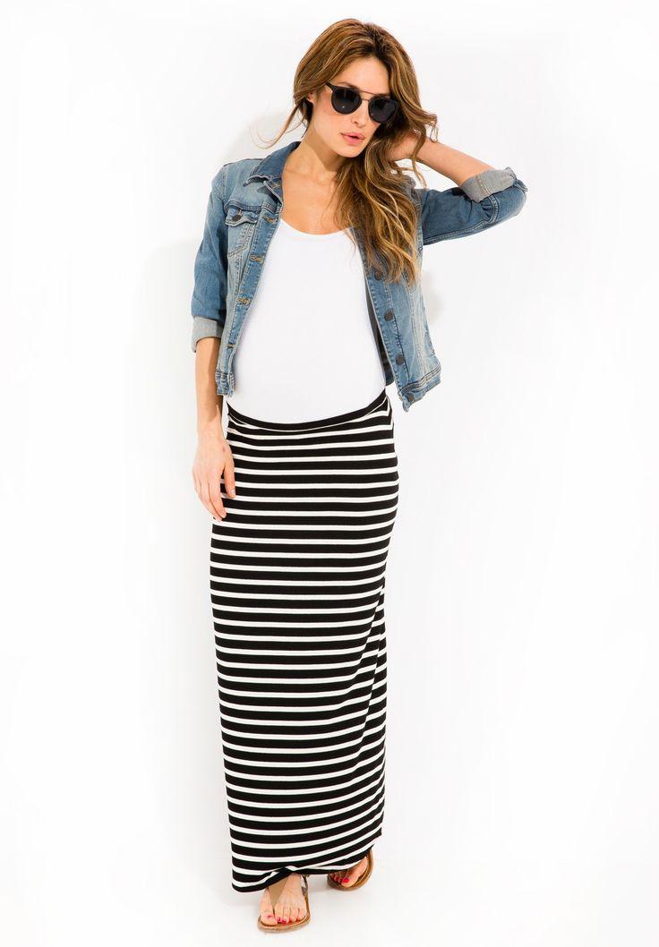 Envie de Fraise // Gayane Striped Maternity Skirt #MaternityStyle #Maternity #Fashion #BumpStyle #Mumtobe #BabyBump #Summer