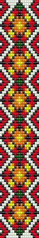Native american inspired bead loom bracelet pattern, PDF seed beaded jewelry, DIY beading, Bookmark geometric pattern, Square stitch ++++++++++++++PDF Instant Digital Download ++++++++++++ This is a pattern for a bracelet, not the real bracelet. I use Miyuki Delica seed beads size