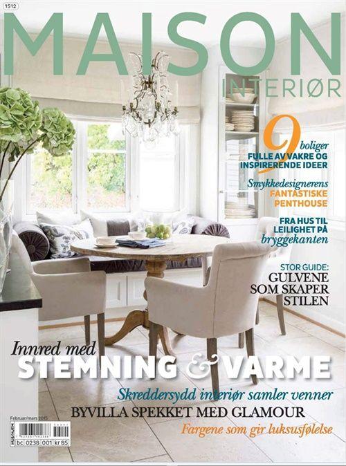MAISON INTERIØR er bladet for deg som er interessert i design og interiør!