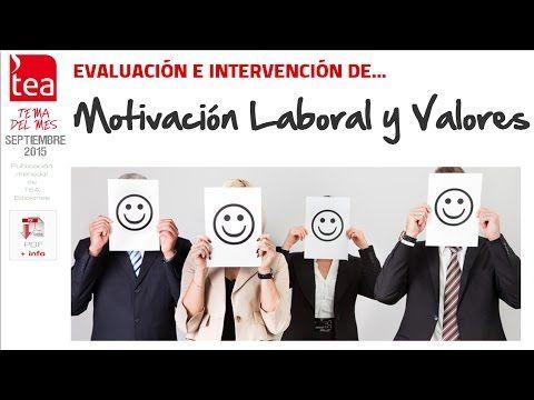Vídeo que recoge las pruebas disponibles para la Evaluación de la Motivación Laboral y los Valores. Puedes descargarte el PDF en: http://web.teaediciones.com/TemasDelMes/2015_Septiembre_Motivacion_y_Valores.pdf
