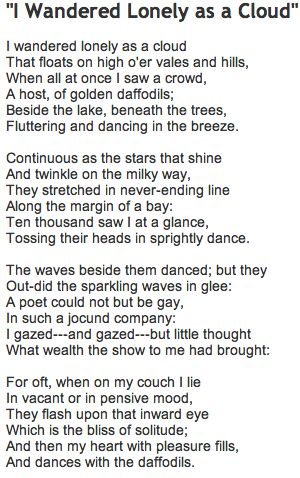 My favourite ever poem - I want to plant them in the garden and have this poem near them! :D