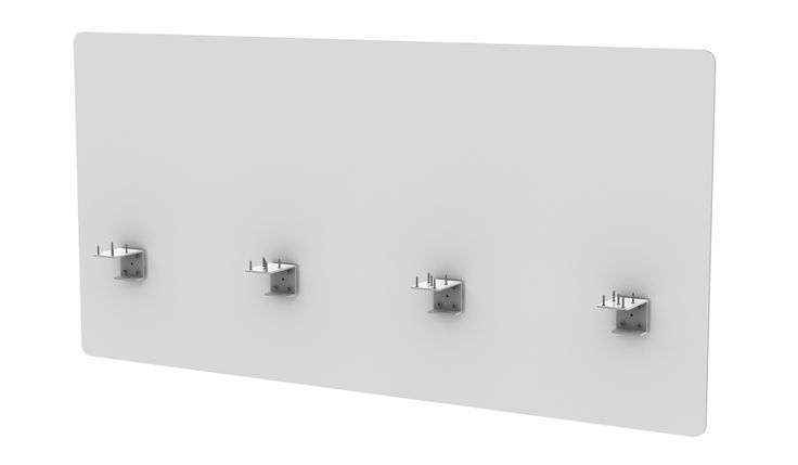 Midtown Panel - Frosted Acrylic Desk Divider from Merge Works