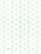 Isometric Graph Paper With 1 Inch Figures (triangles Only) On Letter Sized