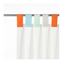 IKEA - HIMMELSK, Tenda con bracciale, 2 teli, , Oltre a creare un'atmosfera più accogliente, queste tende attenuano la luce e salvaguardano la privacy.È facile fare l'orlo alle tende, alla lunghezza desiderata, con la fettuccia per orlare inclusa, da applicare con il ferro da stiro.Bracciale per tenda con nastro a strappo: si apre facilmente.Si appende direttamente al bastone utilizzando i bracciali colorati.