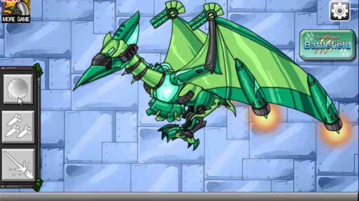 Robot Dinosaur Pterodactyl cartoons for children_Dino - Robot - Transformer