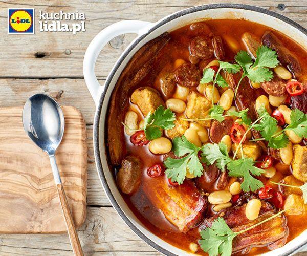 Hiszpański gulasz z fasoli i szynki. Kuchnia Lidla - Lidl Polska #okrasa #gulasz