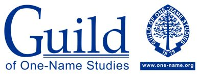 ASTLE FAMILY info -  Banner for the Guild of One-Name Studies. Guild logo plus the crest with web site address below.
