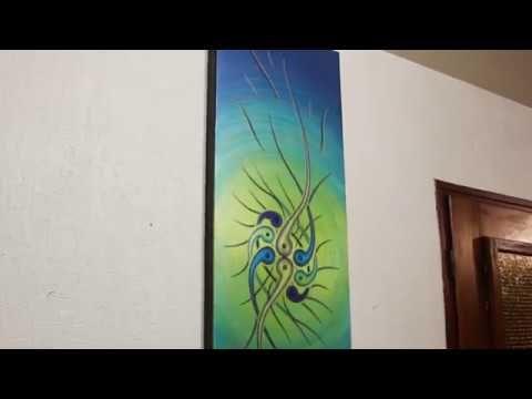 Tableau #abstrait  #Verdoyance #iridescente #youtube #aperçu