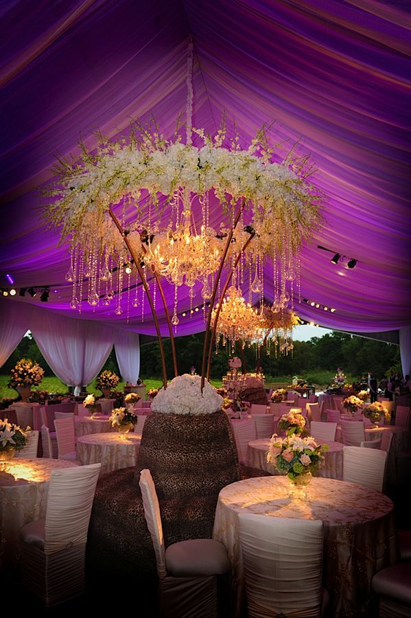 Radiant Orchid Wedding Tent #reception #wedding #radiantorchid