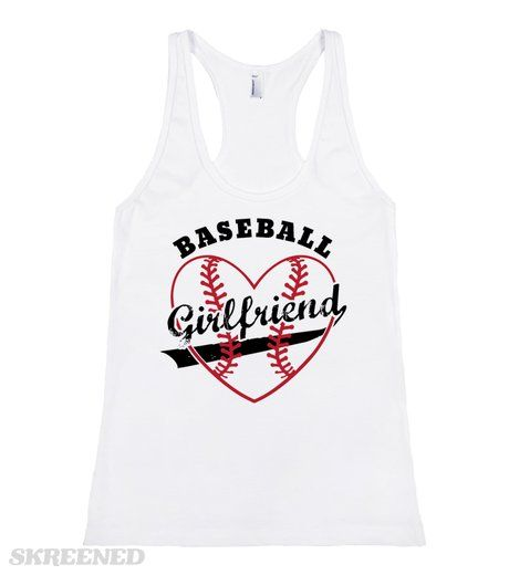 Baseball Girlfriend   Show your support for your amazing boyfriend with this Baseball Girlfriend shirt. This makes a great shirt to wear at your boyfriend's next baseball game. It's also a great gift for your awesome girlfriend to wear at your game! #Baseball #Girlfriend #Sports #Heart #Dating