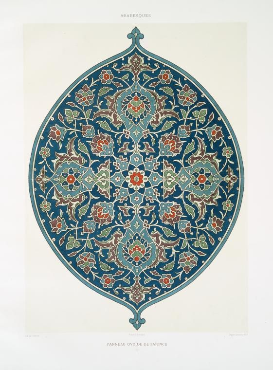 """'L'art Arabe', a rare collection of breathtaking set of plates (wood engraving, heliogravures and color lithographs) of the famous Islamic-Arab designs and ornaments published by the French art historian Prisse d'Avennes sometime during 1869 after buying them from the sixty or so French artists who accompanied Napoleon Bonaparte on his compaign against Egypt in 1798."