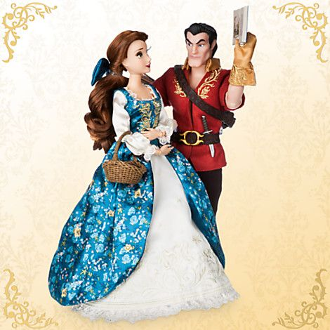 Belle and Gaston Doll Set - Beauty and the Beast - Disney Fairytale Designer Collection