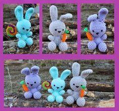 Patrón Amigurumi conejitos de souvenir en crochet
