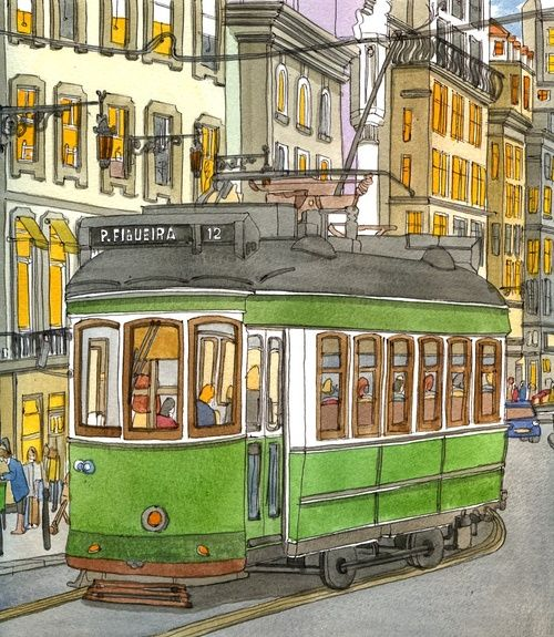 Lisbon tram by Adrian McMurchie