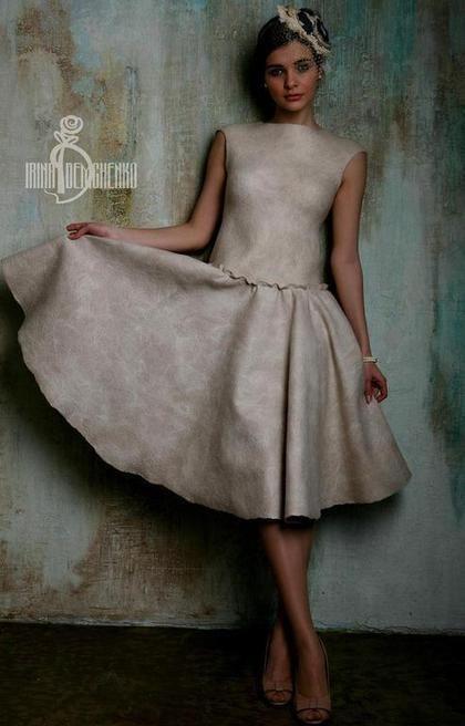 Felted dress / Платья ручной работы. Валяное платье «Nostalgia». Irina…