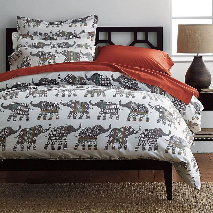 Elephant Caravan Percale Bedding