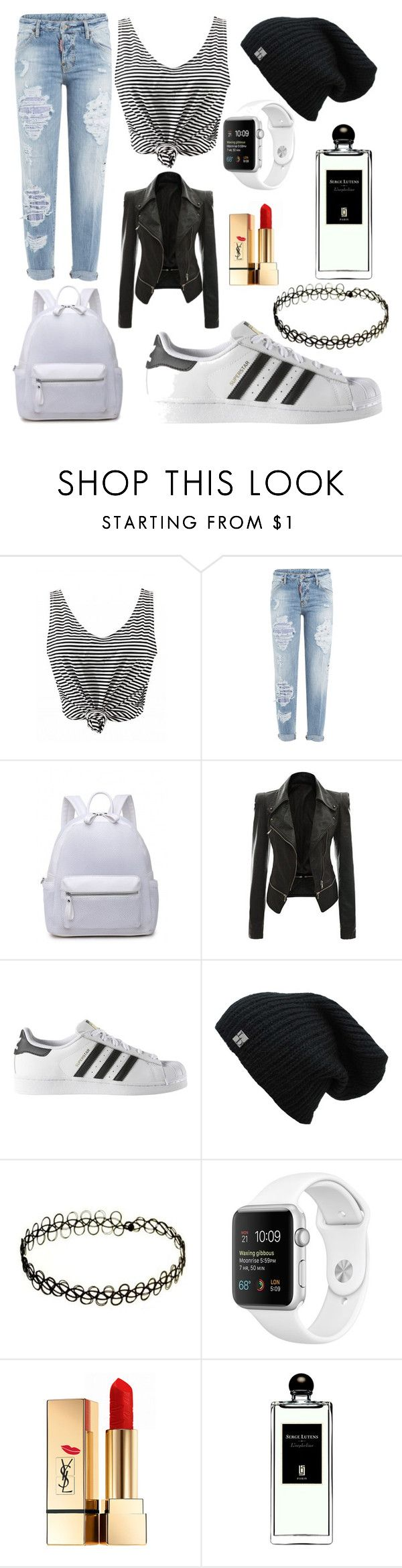 """boyish?"" by beatrigitaa on Polyvore featuring Dsquared2, adidas, Yves Saint Laurent and Serge Lutens"