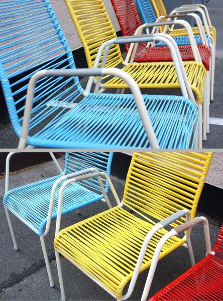 sedie da giardino con filo di plastica quanto erano scomode