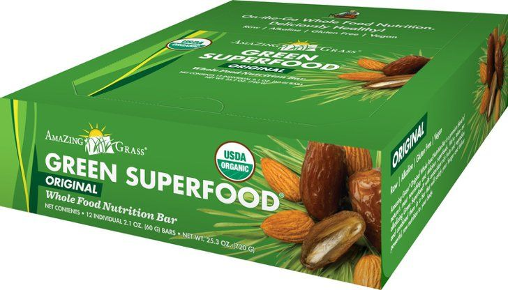 Pin for Later: No Matter Your Diet, We've Found a Bar For You Amazing Grass Green Superfood Energy Bars