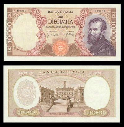I pittori sulle banconote delle Lire