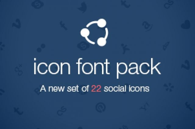 A custom @font-face icon font with scalable vector icons. A new set of 22 social icons. Those social icons are a...