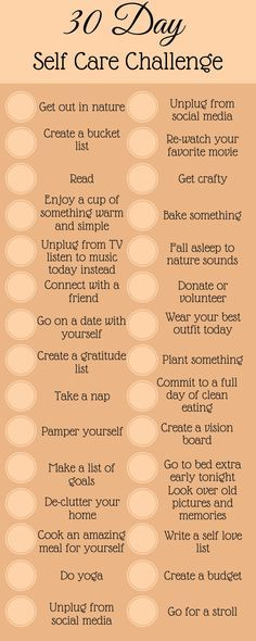 Self-care challenge to bring you happiness and love. Take control and change the way you view yourself by taking this 30-day self-care challenge.