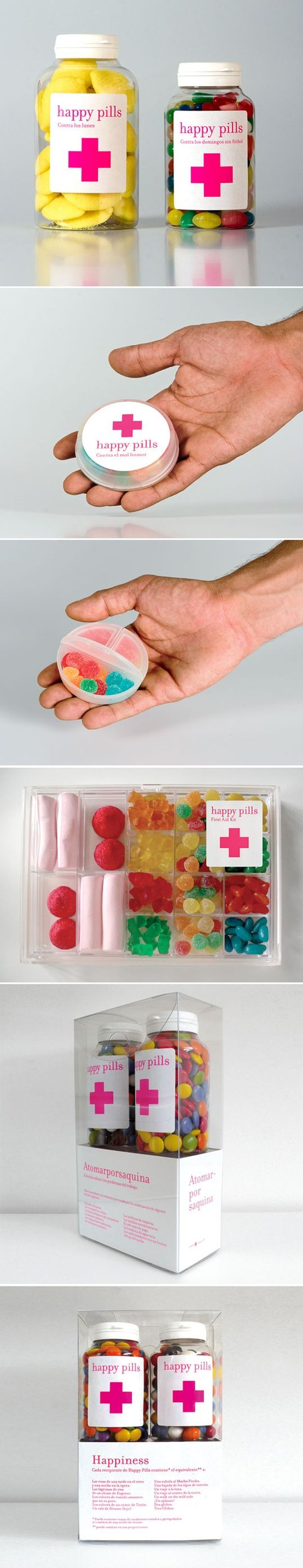 Happy Pills, creative candy packaging