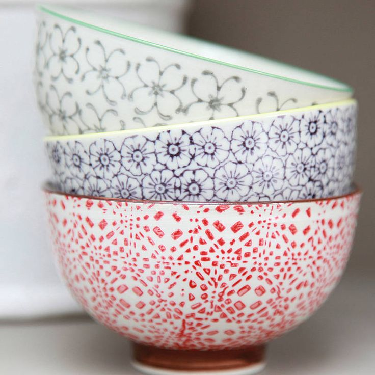 Patterned Painted Bowl