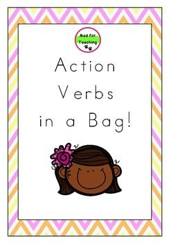 Action Verbs in a Bag is a resource with a variety of uses to develop and expand vocabulary in reading, writing and speaking. This pack contains over 140 action verb word cards with activity ideas, including accompanying worksheets to support learning.