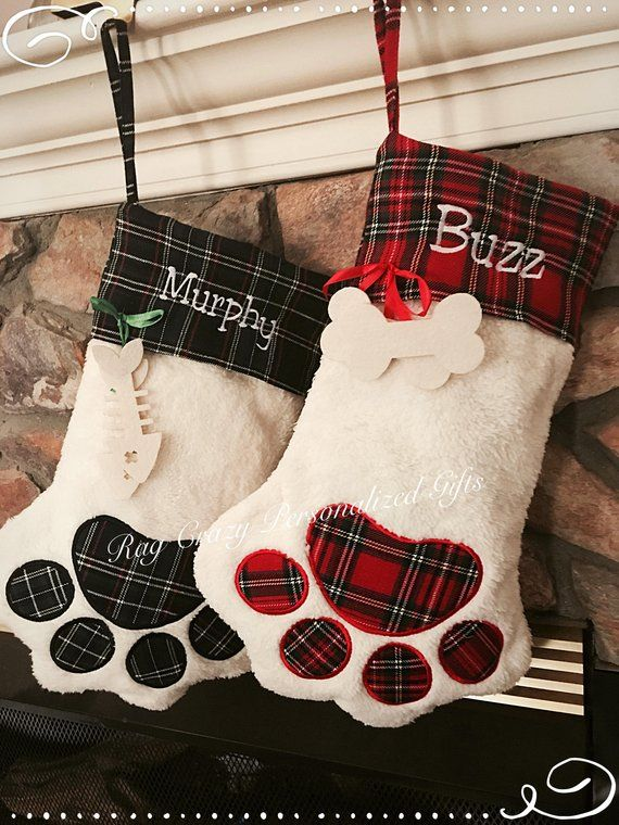 Dog Christmas Stocking.Christmas Stockings Pet Stocking Dog Stocking Family