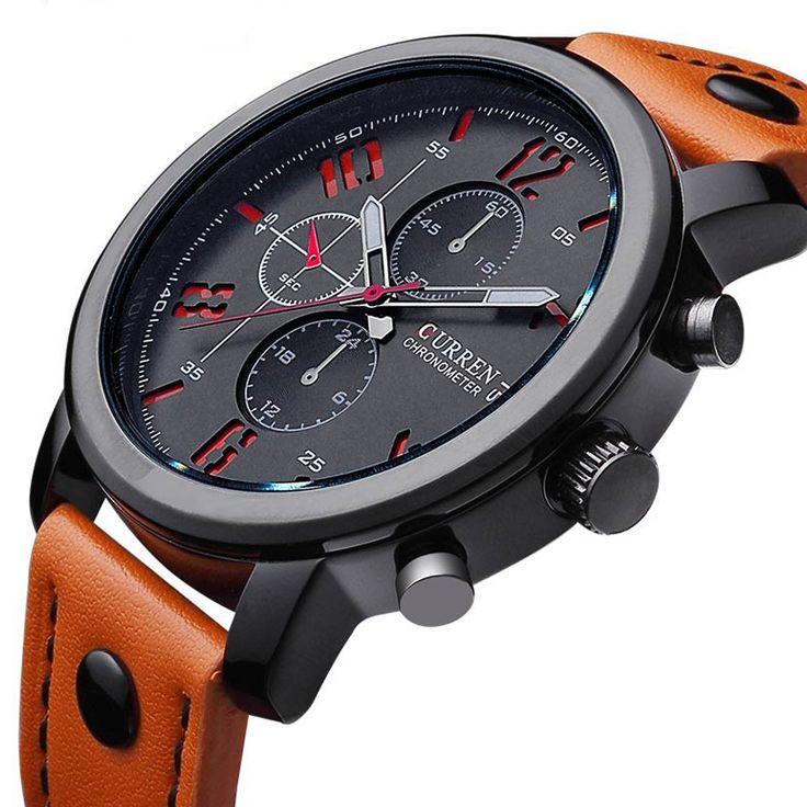 Curren quarzo di sport degli uomini orologi mens orologi top brand di lusso orologi da polso in pelle relogio masculino uomini curren orologi 8192