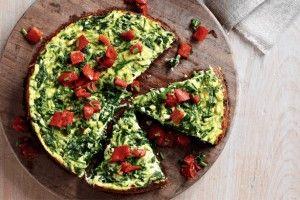 :: Full-of-greens frittata