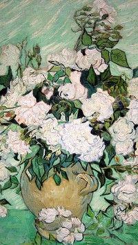 Obraz z różami w wazonie Vincenta van Gogha