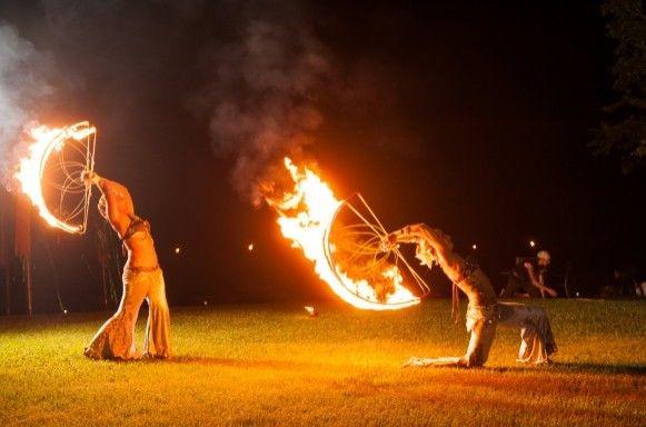 Maui Fire Dancers Wedding