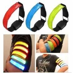 LED Sécurité brassard réfléchissant ceinture clignotant bande bracelet antistatique bras d'enrubannage