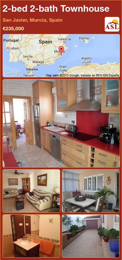 2-bed 2-bath Townhouse in San Javier, Murcia, Spain ►€235,000 #PropertyForSaleInSpain