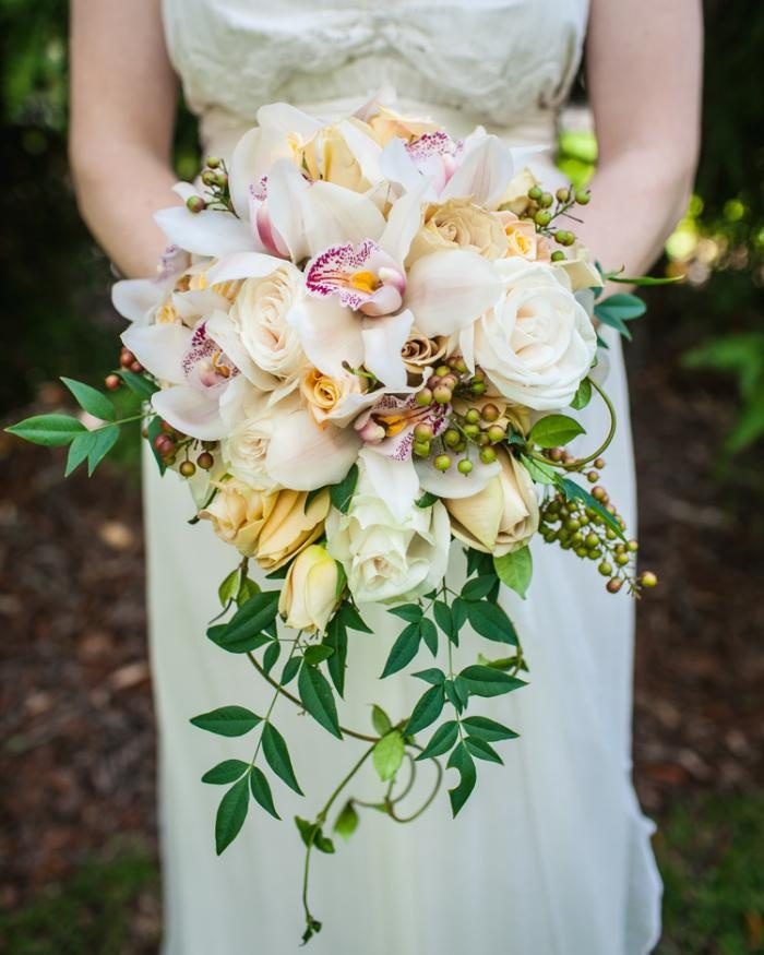 Wedding Flowers For November: Beautiful Unstructured Bride's Bouquet With Vines By I