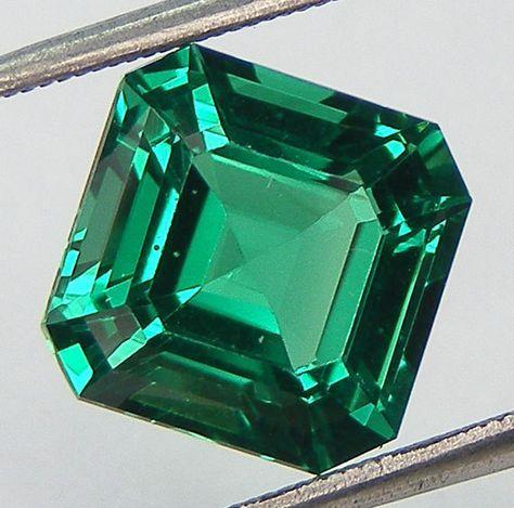 Excellent Cut Nanocrystal Emerald Asscher Cut 9 x 9 by Artwithmom